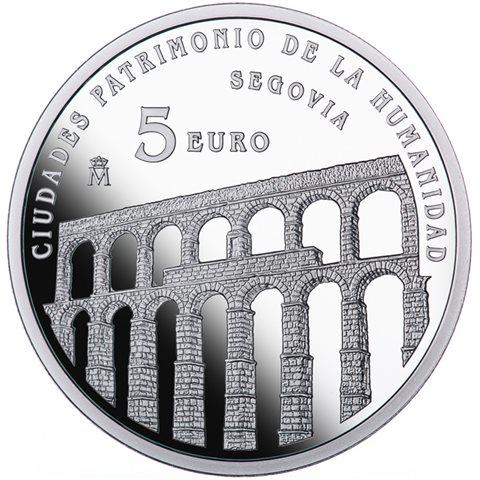 2015. Patrimonio Humanidad. Segovia. 5 euros