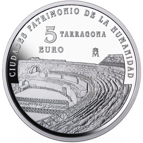 2015. Patrimonio Humanidad. Tarragona. 5 euros