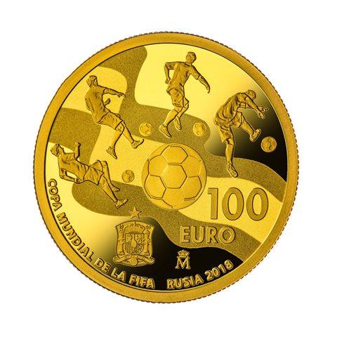 2017. Mundial FIFA Rusia 2018. 100 euros