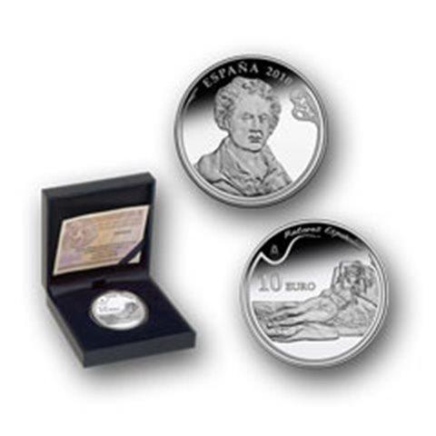 """2010. Goya. 10 euros """"La maja vestida"""""""