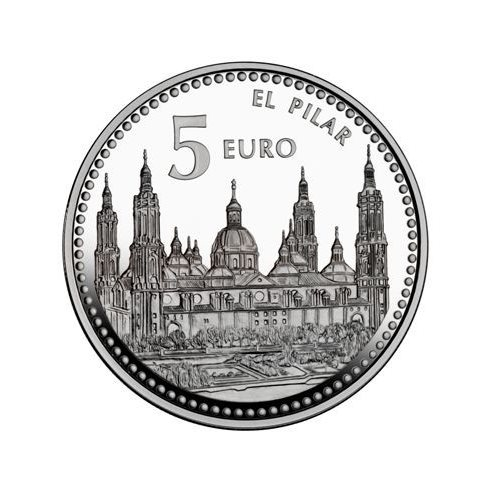 "2011. Capitales provincia. 5 euros ""Zaragoza"""