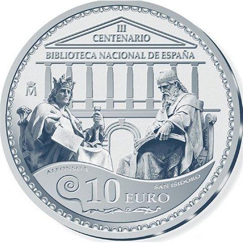 2012. Tercer Centenario Biblioteca Nacional. 10 Euros