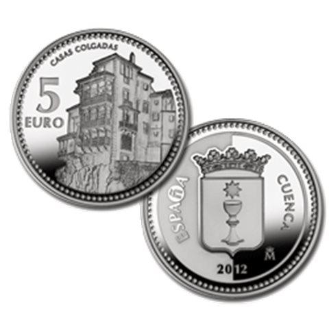 "2012. Capitales provincia. 5 euros ""Cuenca"""