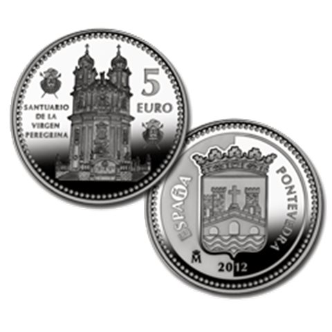 "2012. Capitales provincia. 5 euros ""Pontevedra"""
