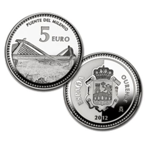 "2012. Capitales provincia. 5 euros ""Orense"""