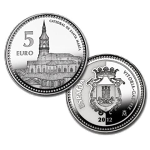 "2012. Capitales provincia. 5 euros ""Vitoria"""