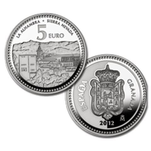 "2012. Capitales provincia. 5 euros ""Granada"""