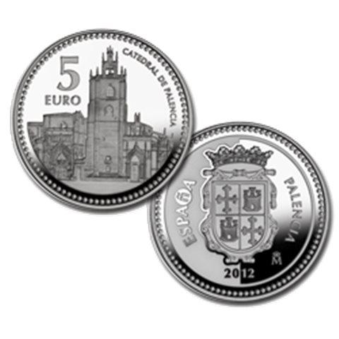 "2012. Capitales provincia. 5 euros ""Palencia"""