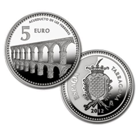 """2012. Capitales provincia. 5 euros """"Tarragona"""""""